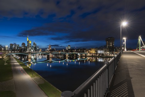 Frankfurt am Main, Skyline, Sunset, River, Main, Commerzbank, Dom, cityscape, urban,