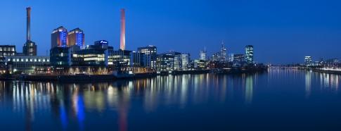 ©Kontrast Fotodesign, Bernd Wittelsbach, Frankfurt, Dusk, Night, Skyline